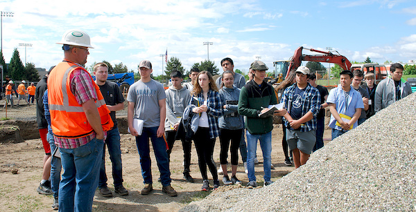 LHS Students Visit Construction Site