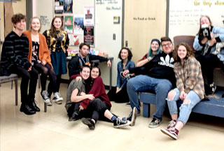 HSD High School Drama Clubs Collect 1,217 lbs. Canned Food on Halloween