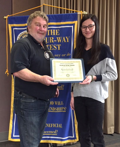 Rotary Student of the Month: December 2019