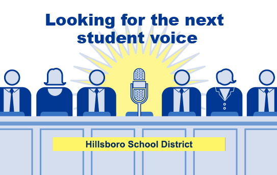 DISTRICT SEEKS STUDENT REPRESENTATIVES TO SCHOOL BOARD