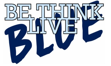 Be-Think-Live Blue graphic
