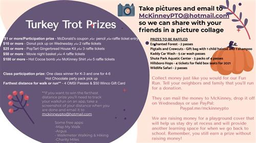 Turkey Trot Prize Info