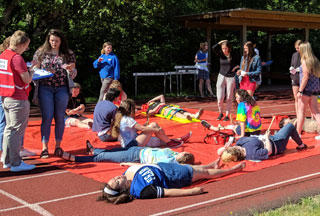 Glencoe Theater and Health Sciences Students Team Up for Disaster Scenario Training