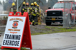Fire Training Exercise at Eastwood Elementary School
