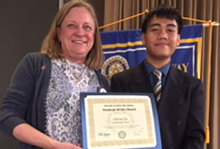 Chivon Ou: Liberty's Rotary Student of The Month