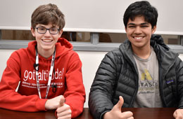 Featured Students: Owen Caverly and Ishaan Sinha