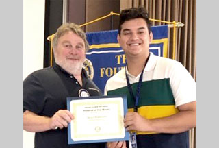 Moises Monterroso: Hilhi's Rotary Student of The Month